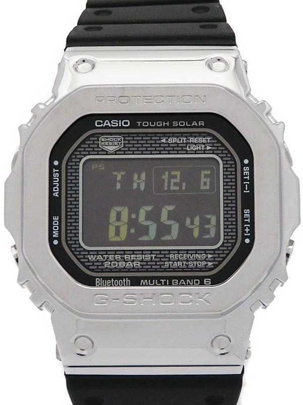 【CASIO】【G-SHOCK】【スマートフォンリンク】【35周年記念モデル】カシオ『Gショック』GMW-B5000-1JF ボーイズ ソーラー電波クォーツ 1ヶ月保証【中古】b02w/h07A
