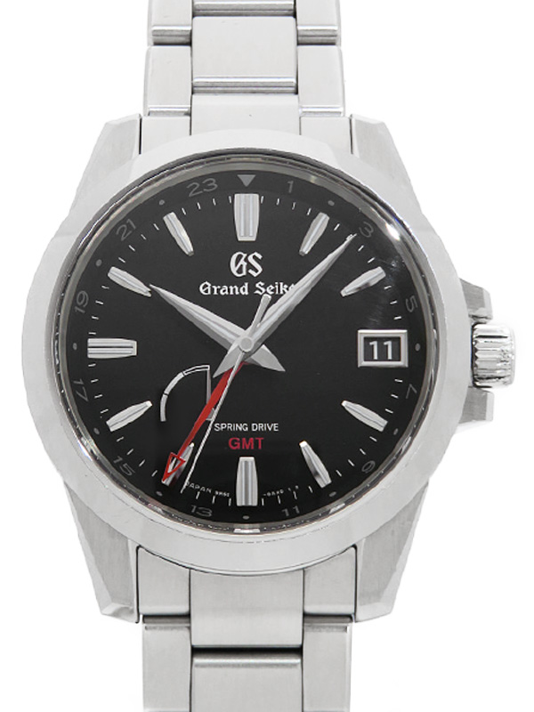 【SEIKO】【GS】【'17年購入】セイコー『グランドセイコー GMT』SBGE213 9R66-0AE0 67****番 メンズ スプリングドライブ 6ヶ月保証【中古】b05w/h11AB