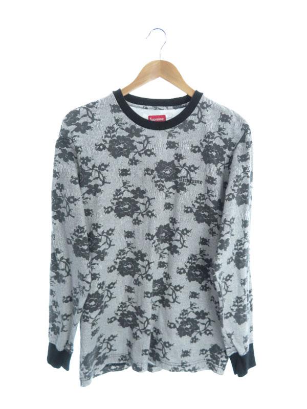 【Supreme】【トップス】シュプリーム『総柄長袖Tシャツ sizeM』メンズ カットソー 1週間保証【中古】b01f/h03AB