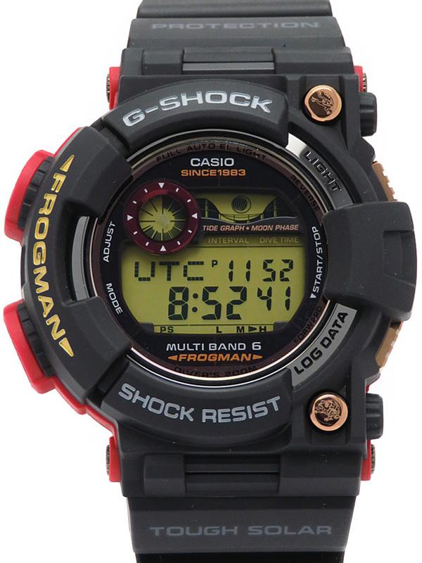【CASIO】【G-SHOCK】カシオ『Gショック フロッグマン マグマオーシャン』GWF-1035F-1JR メンズ ソーラー電波クォーツ 1ヶ月保証【中古】b06w/h17S