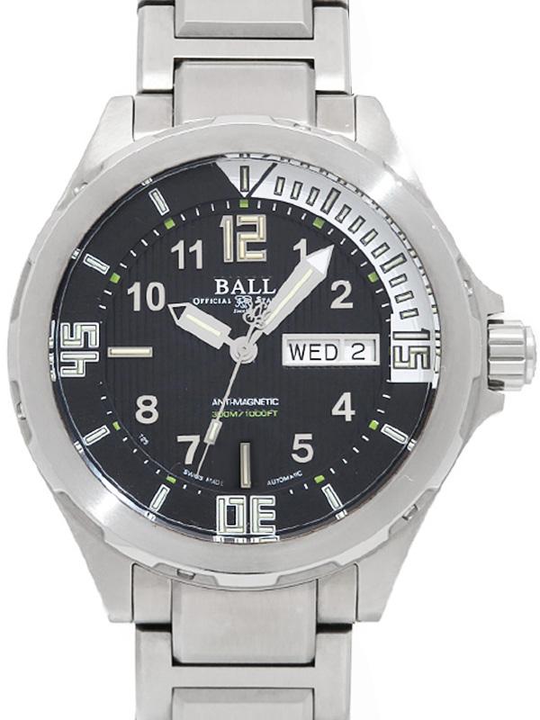 【BALL】【'18年購入】ボール『エンジニアマスター2 ダイバー3』DM3020A-SAJ-BK メンズ 自動巻き 3ヶ月保証【中古】b02w/h07AB