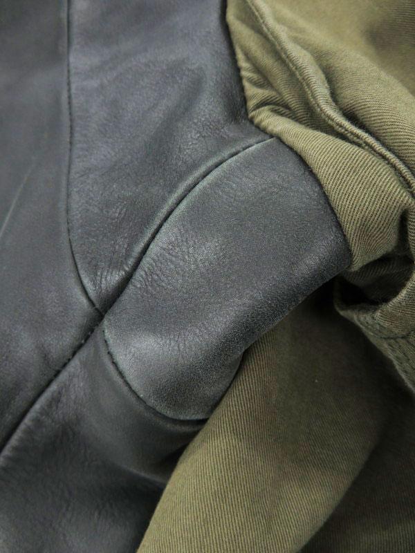 DIESELアウター ディーゼル レザー切替 ミリタリーコート sizeL メンズ 1週間保証b01f h17ABstQhdr