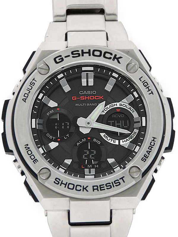 【CASIO】【G-SHOCK】カシオ『Gショック Gスチール』GST-W110D-1A メンズ ソーラー電波クォーツ 1週間保証【中古】b06w/h06AB