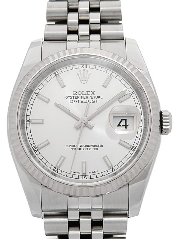 【ROLEX】【'15年購入】【仕上済】ロレックス『デイトジャスト』116234 ランダム番 メンズ 自動巻き 12ヶ月保証【中古】b06w/h17A