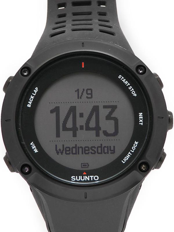 【SUUNTO】【GPSアウトドアスポーツウォッチ】スント『アンビット3 ピークブラック』SS020677000 メンズ ウェアラブル端末 1週間保証【中古】b02w/h11A