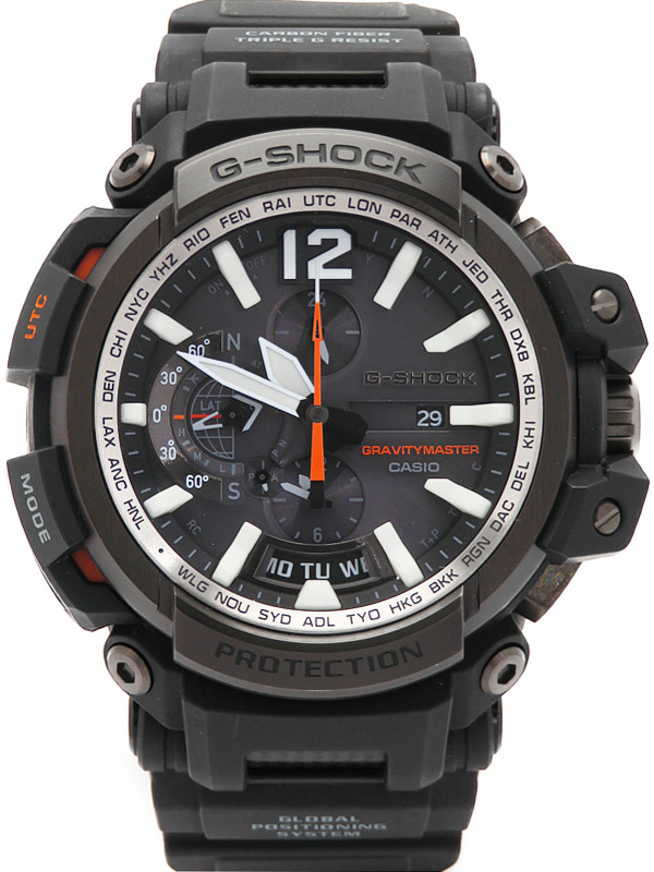 【CASIO】【G-SHOCK】【GPSハイブリッド電波ソーラー】【'17年購入】カシオ『Gショック グラビティマスター』GPW-2000-1AJF メンズ 1ヶ月保証【中古】b02w/h09A