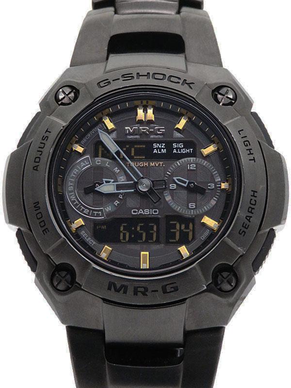 【CASIO】【G-SHOCK】カシオ『Gショック MR-G』MRG-7700B-1A メンズ ソーラー電波クォーツ 1ヶ月保証【中古】b01w/h02A