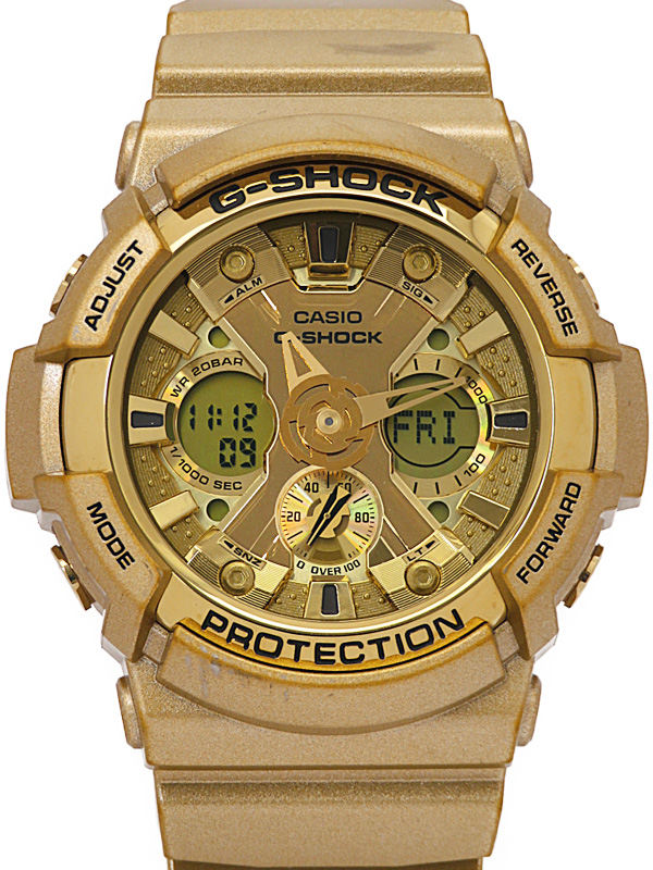 【CASIO】【G-SHOCK】カシオ『Gショック クレイジーゴールド』GA-200GD-9A メンズ クォーツ 1週間保証【中古】b06w/h18A