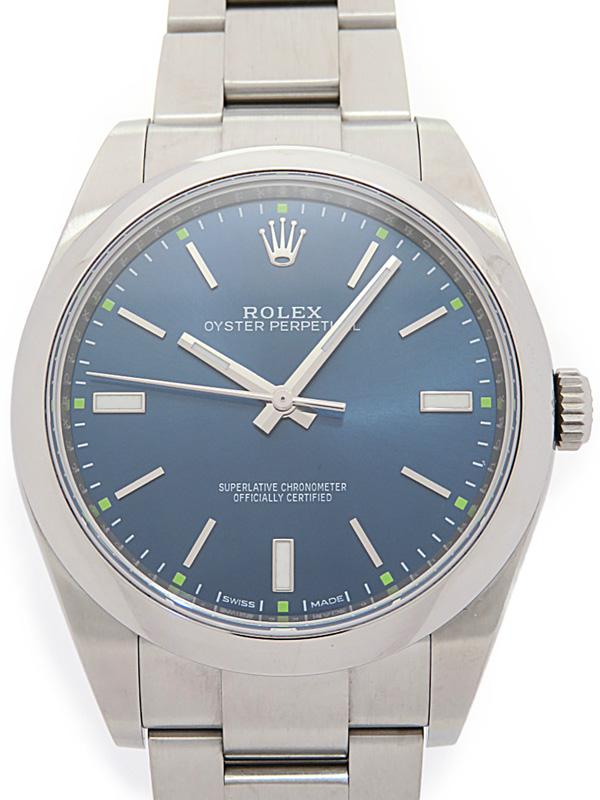 【ROLEX】【'16年購入】【仕上済】ロレックス『オイスターパーペチュアル』114300 ランダム番 メンズ 自動巻き 12ヶ月保証【中古】b06w/h18A