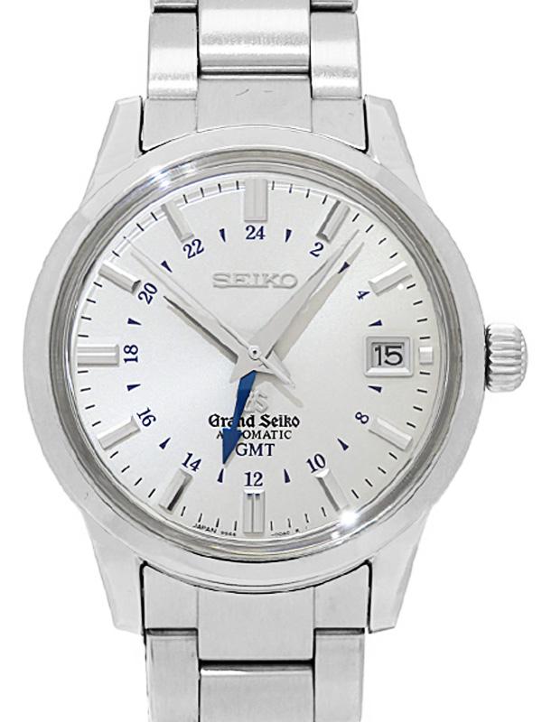 【SEIKO】【GS】【裏スケ】【仕上済】セイコー『グランドセイコー GMT』SBGM023 9S66-00A0 3D****番 メンズ 自動巻き 3ヶ月保証【中古】b02w/h09A