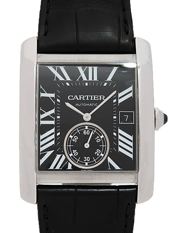 【Cartier】【裏スケ】カルティエ『タンクMC LM』W5330004 メンズ 自動巻き 6ヶ月保証【中古】b05w/h17A