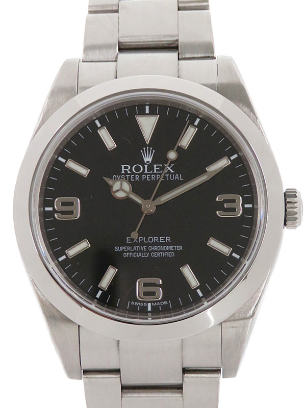 【ROLEX】【'10年購入】【仕上済】ロレックス『エクスプローラー1』214270 ランダム番 メンズ 自動巻き 12ヶ月保証【中古】b01w/h17A