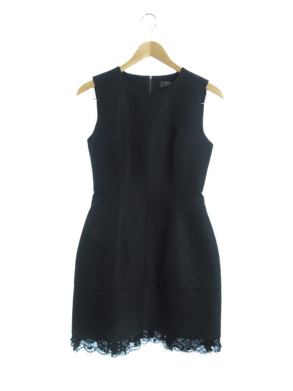 【FOXEY】【エクセラジッパー】【MY LITTLE BLACK DRESS】【日本製】フォクシー『ノースリーブワンピース size40』31073-SOFX11PF レディース 1週間保証【中古】b03f/h07AB