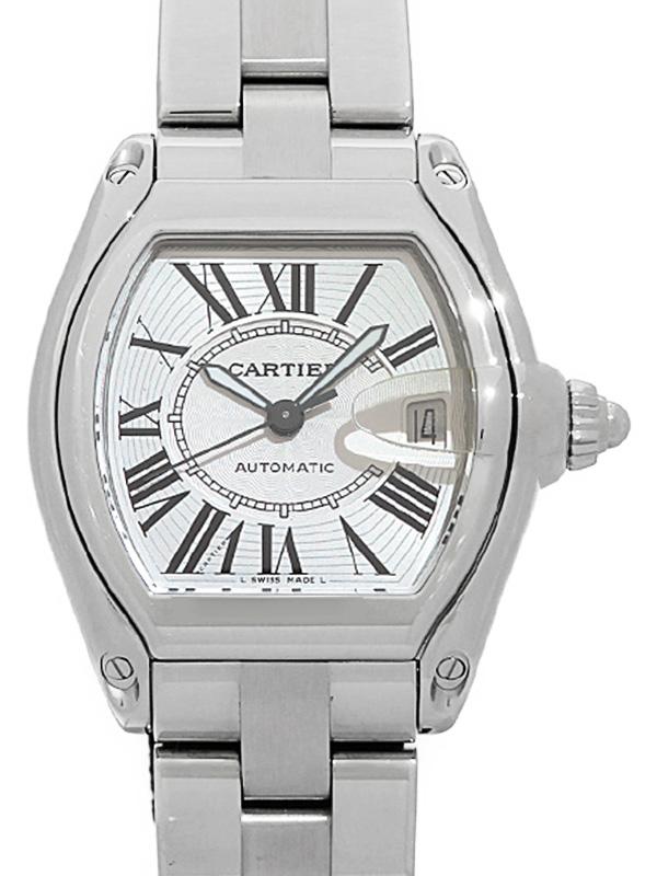 【Cartier】【OH・仕上済】カルティエ『ロードスターLM』W62025V3 メンズ 自動巻き 3ヶ月保証【中古】b06w/h13AB