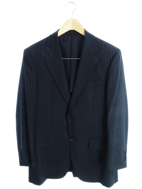 【BURBERRY LONDON】【日本製】【上下セット】【Super 120's】バーバリーロンドン『ストライプ柄スーツ セットアップ sizeAB4』A1H51-109-29 メンズ 【中古】b01f/h19AB