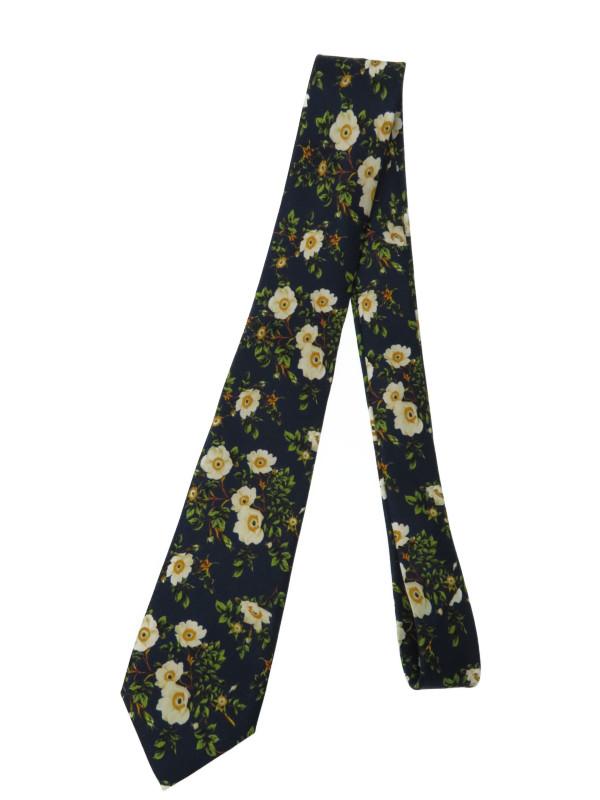 【GUCCI】【イタリア製】グッチ『花柄シルクネクタイ』444435 4E001 メンズ 1週間保証【中古】b01f/h02A