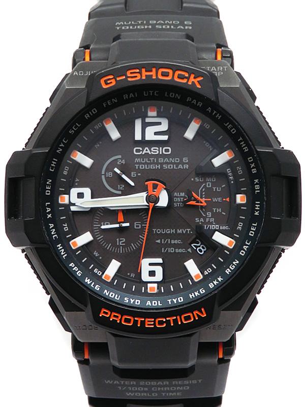 【CASIO】【G-SHOCK】【海外モデル】カシオ『Gショック スカイコックピット』GW-4000-1A メンズ ソーラー電波クォーツ 1週間保証【中古】b03w/h16AB