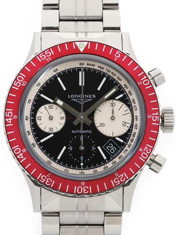 【LONGINES】【仕上済】ロンジン『ヘリテージ コレクション ダイバー 1967』L2.808.4.52.6 メンズ 自動巻き 3ヶ月保証【中古】b05w/h22AB