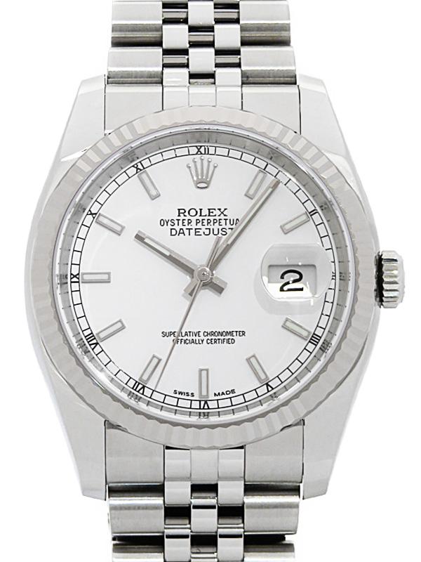 【ROLEX】ロレックス『デイトジャスト』116234 ランダム番 メンズ 自動巻き 12ヶ月保証【中古】b02w/h08A