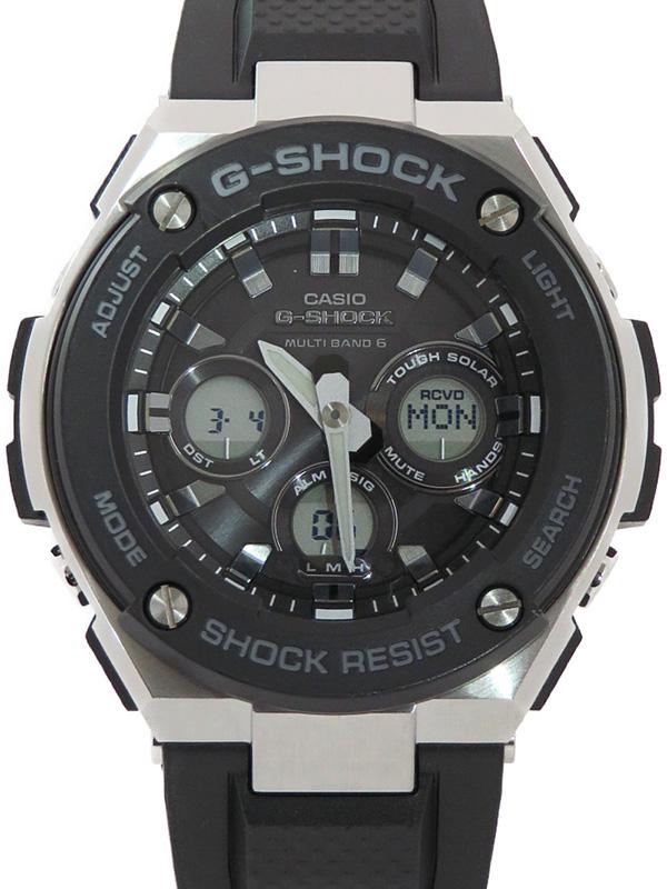 【CASIO】【G-SHOCK】カシオ『Gショック Gスチール』GST-W300-1AJF メンズ ソーラー電波クォーツ 1週間保証【中古】b01w/h02A