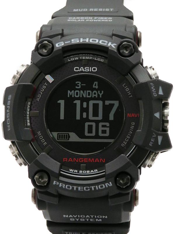 【CASIO】【G-SHOCK】【ソーラーアシストGPSナビゲーション】カシオ『Gショック マスターオブG レンジマン』GPR-B1000-1JR ソーラー電波GPS 1ヶ月保証【中古】b02w/h09A