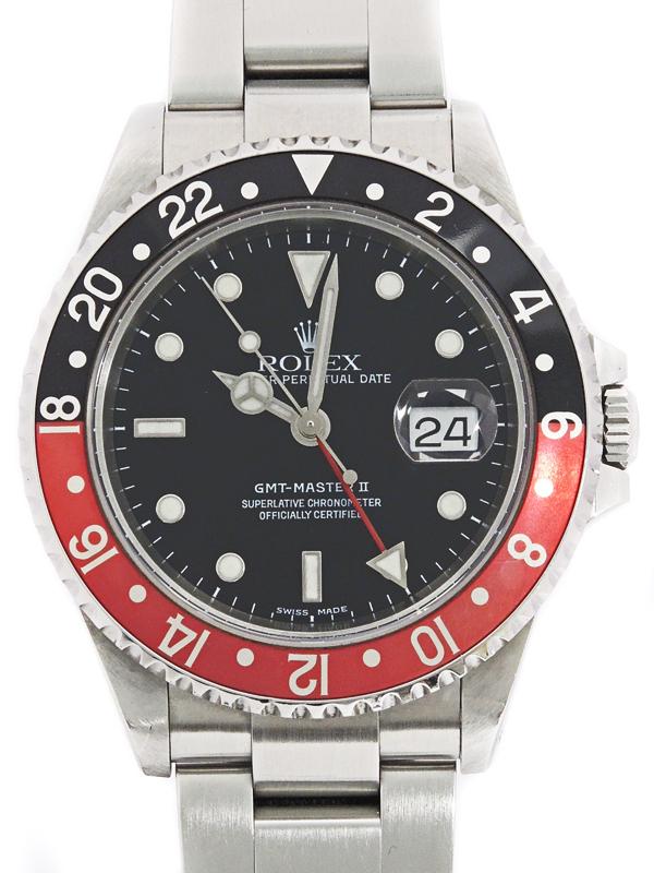 【ROLEX】【OH済】ロレックス『GMTマスター2 赤×黒ベゼル』16710 K番'01年頃製 メンズ 自動巻き 12ヶ月保証【中古】b05w/h03B