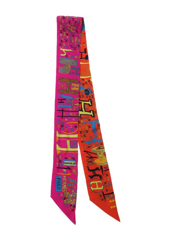 【HERMES】【フランス製】エルメス『ツイリー』レディース スカーフ 1週間保証【中古】b02f/h02AB