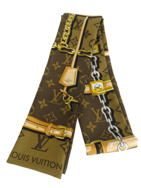 【Louis Vuitton】【イタリア製】ルイヴィトン『バンドー モノグラム コンフィデンシャル』M78655 レディース スカーフ 1週間保証【中古】b01f/h02A