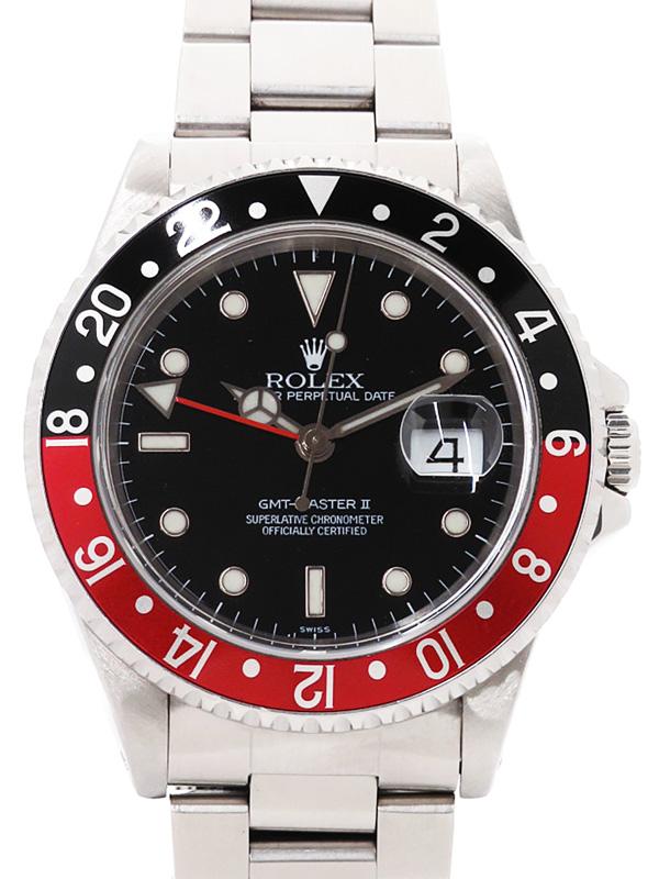 [定休日以外毎日出荷中] 【ROLEX】ロレックス『GMTマスター2 赤×黒ベゼル』16710 A番'99年頃製 メンズ 自動巻き 12ヶ月保証【】b06w/h07B, オリジナルシルバーCHUNKY FACTORY d54dda5a