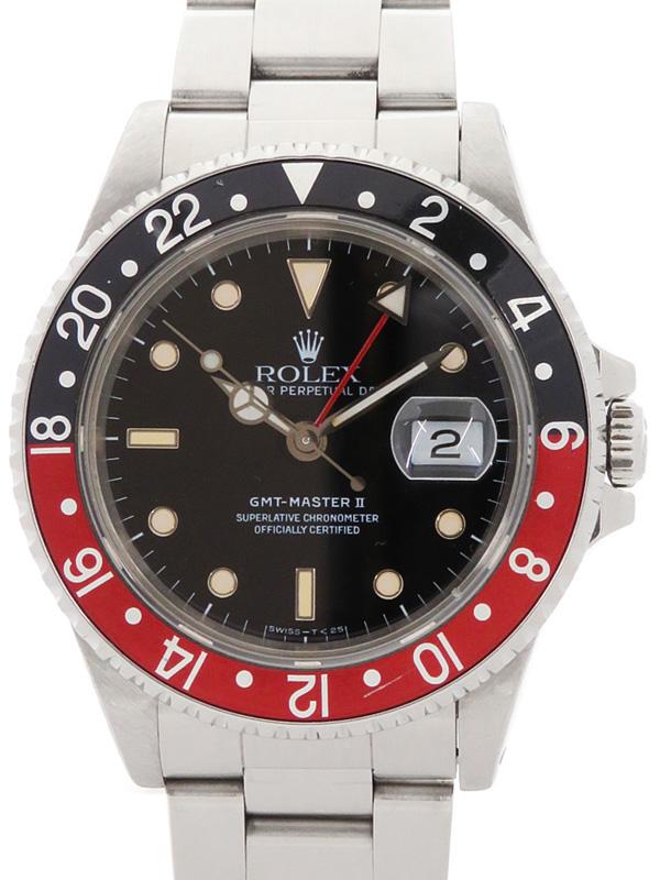 【ROLEX】ロレックス『GMTマスター2 赤×黒ベゼル』16710 L番'89年頃製 メンズ 自動巻き 12ヶ月保証【中古】b01w/h03B