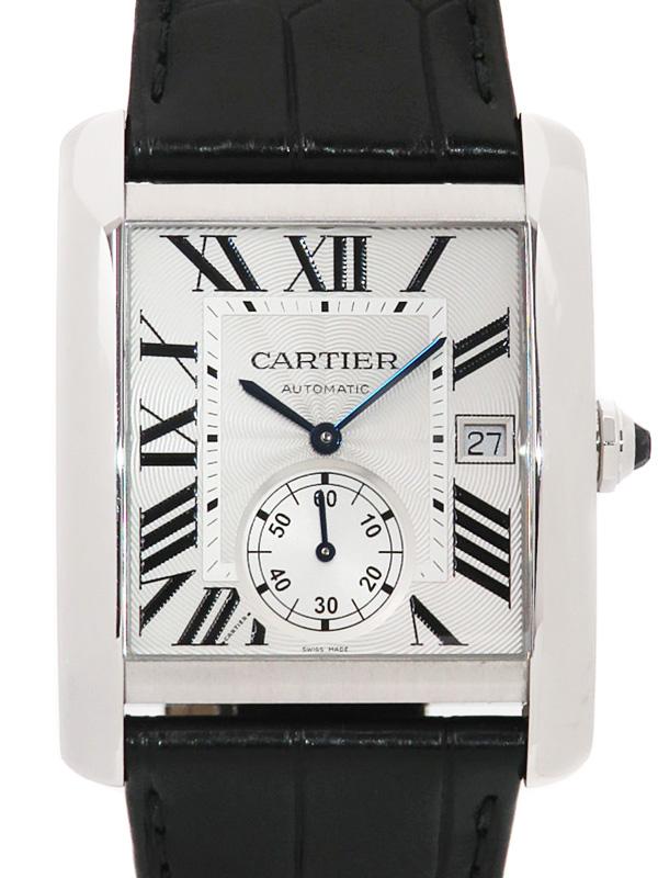 【Cartier】【裏スケ】【'19年メーカーコンプリートサービス済】【仕上済】【'18年購入】カルティエ『タンクMC』W5330003 メンズ 自動巻き 6ヶ月保証【中古】b03w/h20A