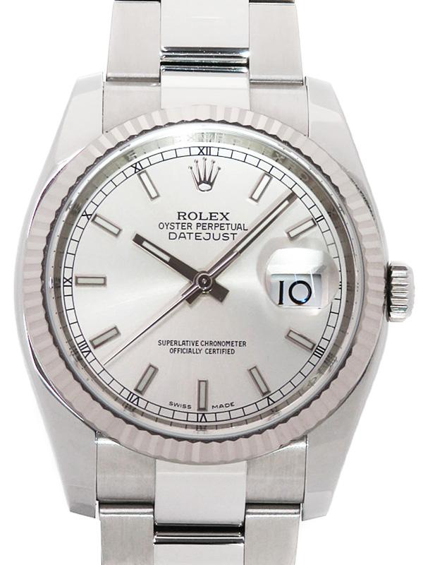 【ROLEX】【'19年購入】ロレックス『デイトジャスト』116234 ランダム番 メンズ 自動巻き 12ヶ月保証【中古】b03w/h15A