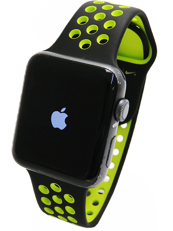 【Apple】【アップルウォッチ シリーズ2】アップル『Apple Watch Series2 Nike+ 42mm ブラック/ボルト』MP0L2J/A メンズ スマートウォッチ 1週間保証【中古】b03w/h20B