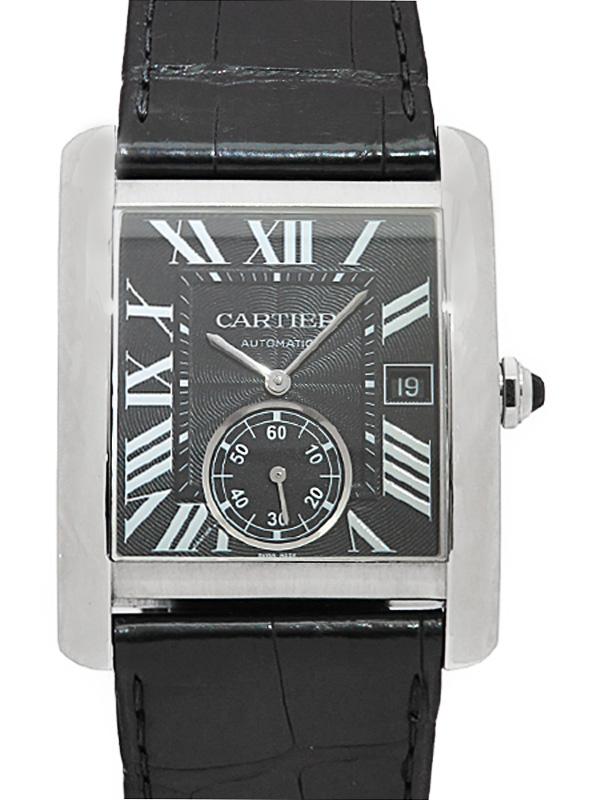 【Cartier】【裏スケ】【仕上済】カルティエ『タンクMC LM』W5330004 メンズ 自動巻き 6ヶ月保証【中古】b01w/h04A
