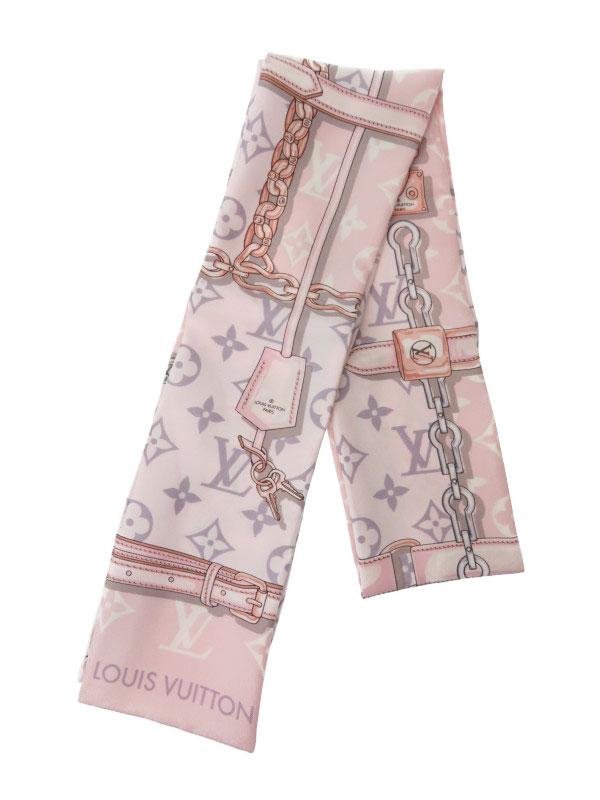 【Louis Vuitton】【イタリア製】ルイヴィトン『バンドー モノグラム コンフィデンシャル』M70637 レディース スカーフ 1週間保証【中古】b02f/h10AB