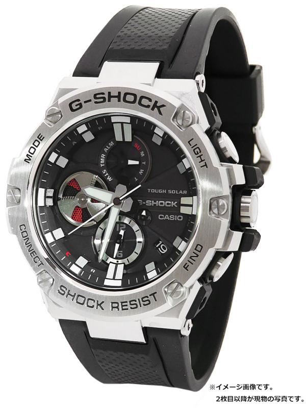 【CASIO】【G-SHOCK】【美品】カシオ『Gショック Gスチール』GST-B100-1AJF メンズ ソーラークォーツ 1週間保証【中古】b02w/h13SA