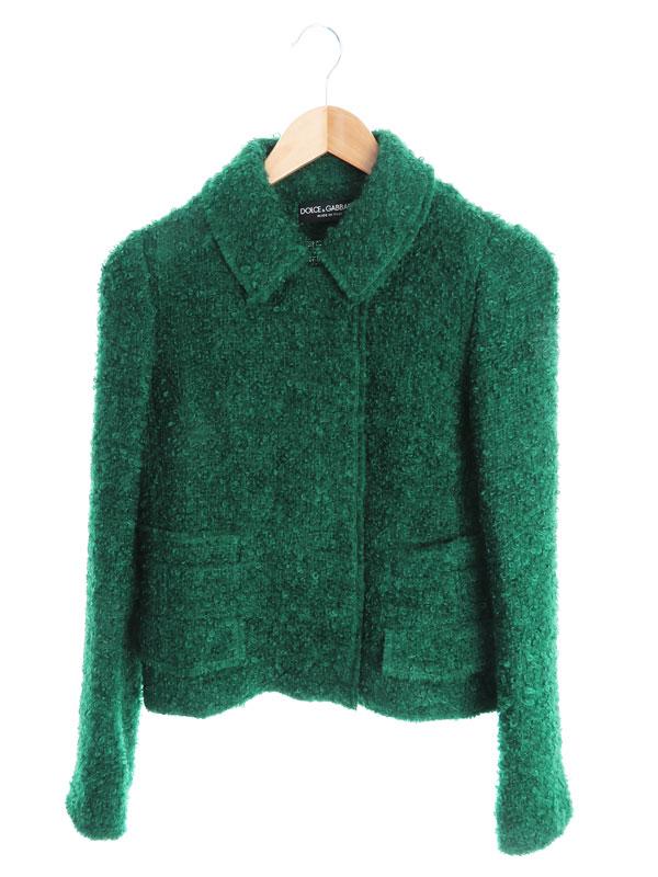 【Dolce&Gabbana】【イタリア製】【上下セット】ドルチェアンドガッバーナ『スカートスーツ size上38 下40』F287CT/FUM4Q レディース セットアップ 【中古】b01f/h16A