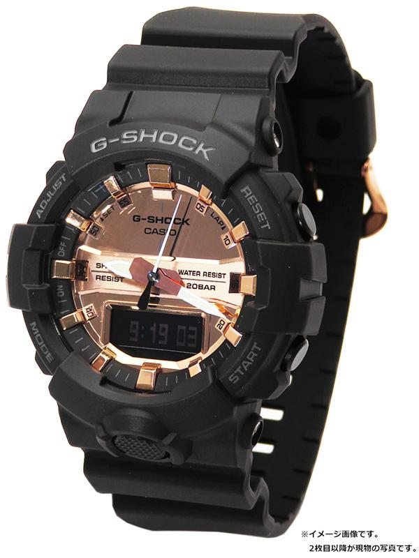 【CASIO】【G-SHOCK】【'19年購入】【美品】カシオ『Gショック ブラック&ローズゴールド』GA-800MMC-1AJF メンズ クォーツ 1週間保証【中古】b03w/h12SA