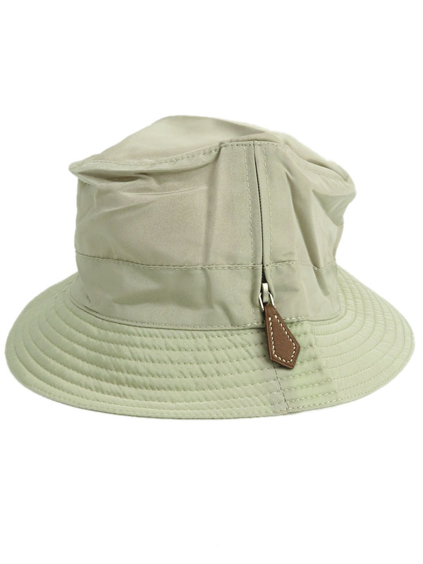 【HERMES】【MOTSCH】【ririジッパー】【フランス製】エルメス『バケットハット size59』レディース 帽子 1週間保証【中古】b05f/h14A