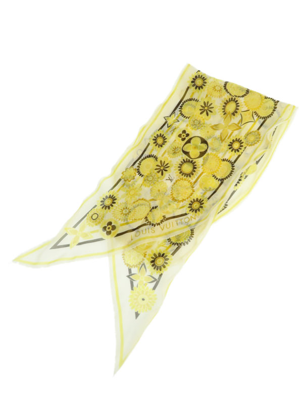 【LOUIS VUITTON】ルイヴィトン『花柄スカーフ』レディース 1週間保証【中古】b05f/h16AB