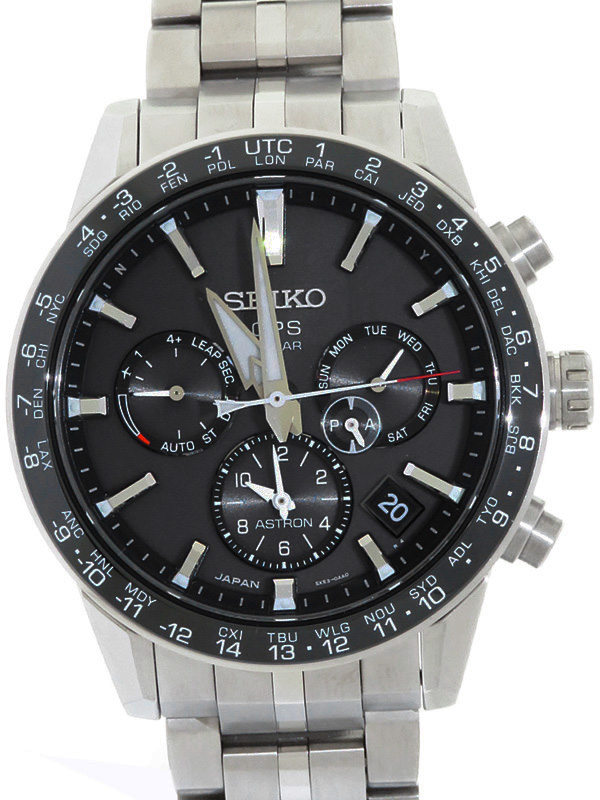 【SEIKO】【'18年購入】セイコー『アストロン』SBXC003 5X53-0AB0 88****番 メンズ ソーラー電波GPS 3ヶ月保証【中古】b01w/h02A