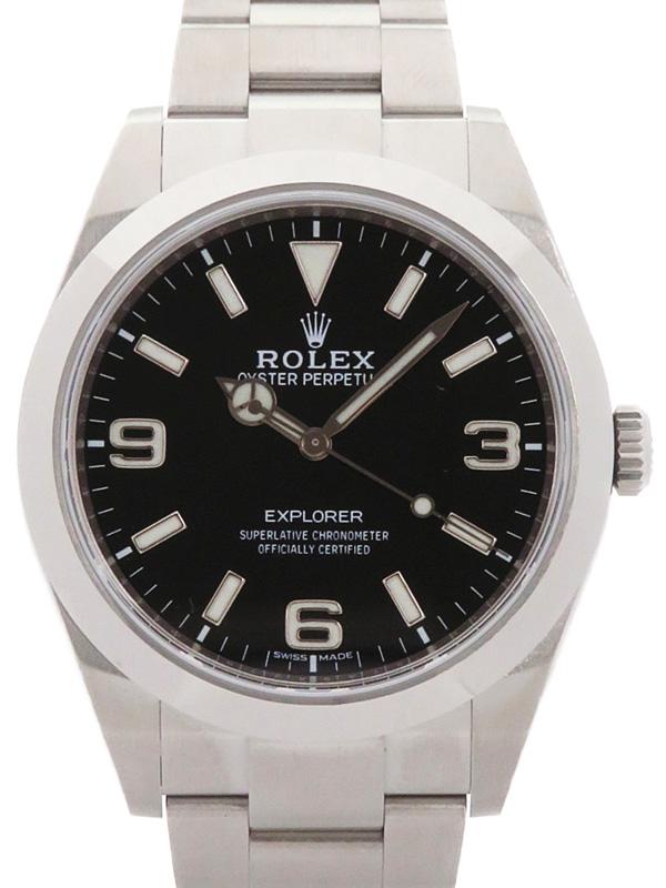 【ROLEX】【'18年購入】【ニューダイアル】【鏡面バックル】ロレックス『エクスプローラー1』214270 ランダム番 メンズ 自動巻き 12ヶ月保証【中古】b06w/h17SA