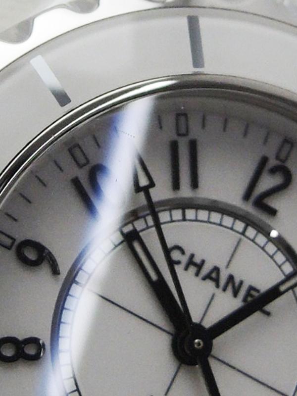 CHANEL電池交換・仕上済 シャネル J12 ホワイトセラミック 33mm H0968 レディース クォーツ 3ヶ月保証b06w h17ABxBWerCdo