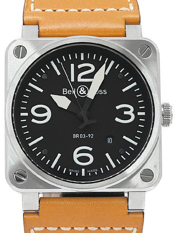 【Bell&Ross】ベルアンドロス『アビエーション』BR03-92 メンズ 自動巻き 3ヶ月保証【中古】b05w/h11A
