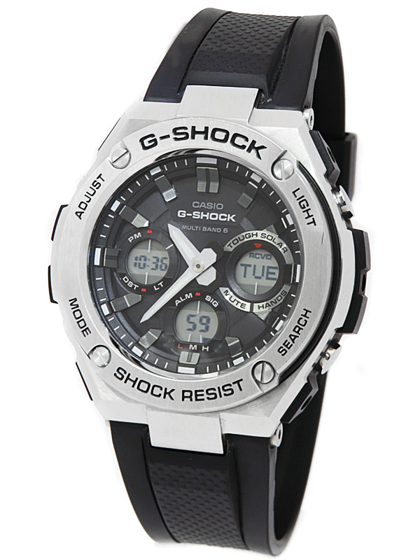 【CASIO】【G-SHOCK】カシオ『Gショック Gスチール』GST-W110-1AJF メンズ ソーラー電波クォーツ 1週間保証【中古】b05w/h10AB