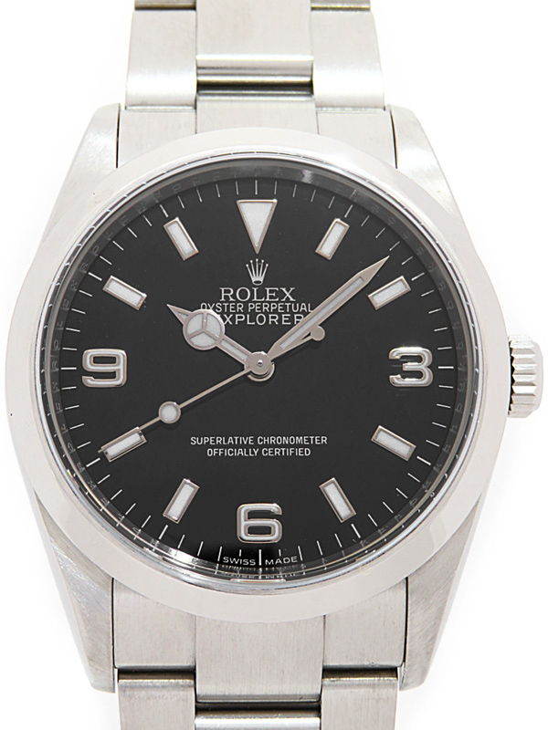 【ROLEX】【OH・仕上済】ロレックス『エクスプローラー1』114270 V番'09年頃製 メンズ 自動巻き 12ヶ月保証【中古】b06w/h17A