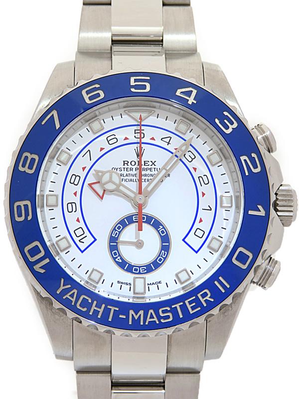 【ROLEX】【'17年購入】【仕上済】ロレックス『ヨットマスター2』116680 ランダム番 メンズ 自動巻き 12ヶ月保証【中古】b01w/h08A
