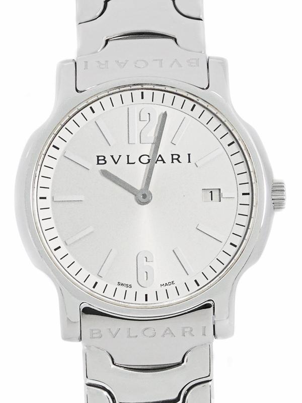 【BVLGARI】【電池交換・仕上済】ブルガリ『ソロテンポ』ST35S ボーイズ クォーツ 1ヶ月保証【中古】b05w/h22A