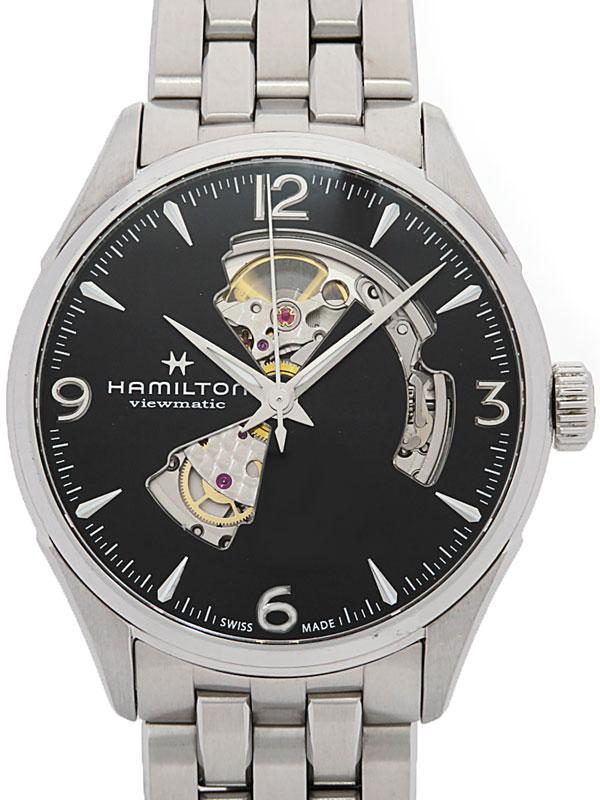 【HAMILTON】【裏スケ】【'18年購入】ハミルトン『ジャズマスター ビューマチック オープンハート』H32705131 メンズ 自動巻き 1ヶ月保証【中古】b06w/h17B