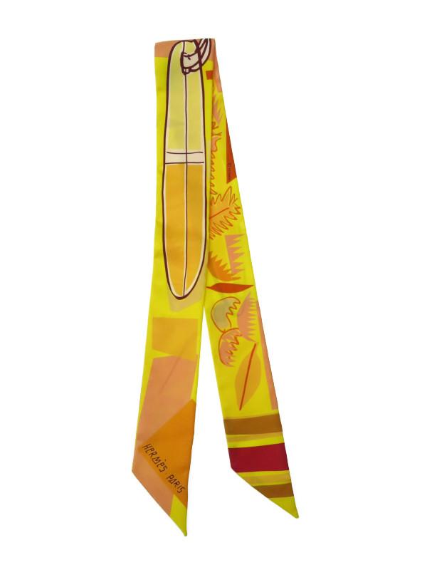 【HERMES】【フランス製】エルメス『ツイリー』レディース スカーフ 1週間保証【中古】b02f/h02A